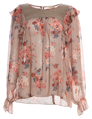 Mystree Floral Long Sleeve Top
