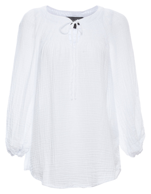 Michael Stars Peasant Top with Smocking