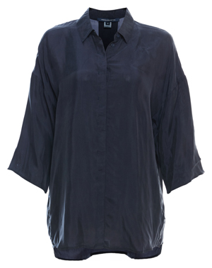French Connection 3/4 Sleeve Cupro Shirt