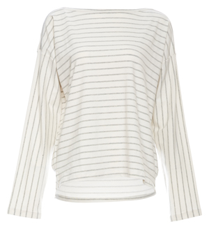 French Connection Striped Long Sleeve Top
