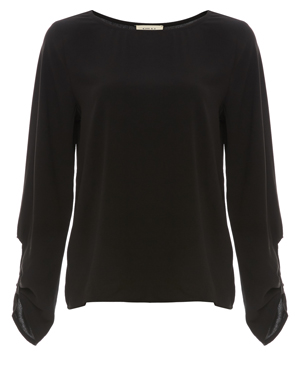 Tie Cuff Long Sleeve Top