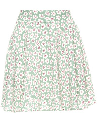Silky Floral Circle Skirt