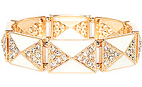 Art Deco Pyramid Bracelet