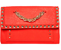 Studded Chain Link Clutch