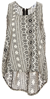 Tribal High Low Top