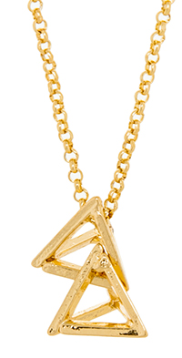 Stacked Pyramid Pendant Necklace
