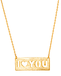 'I Love You' Pendant Necklace