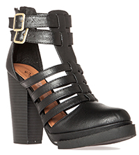 Caged Platform Booties
