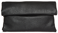 Langston Vegan Leather Double Fold Over Clutch