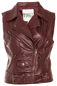 BB Dakota Anne Leatherette Vest
