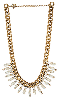 DAILYLOOK Antiqued Crystal Chain Necklace