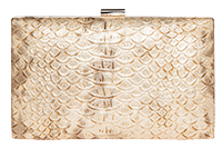 Metallic Alligator Clutch