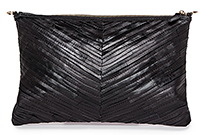 Stitched Strip Leather Clutch / iPad Case