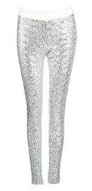 Sequin Front Skinny Pants
