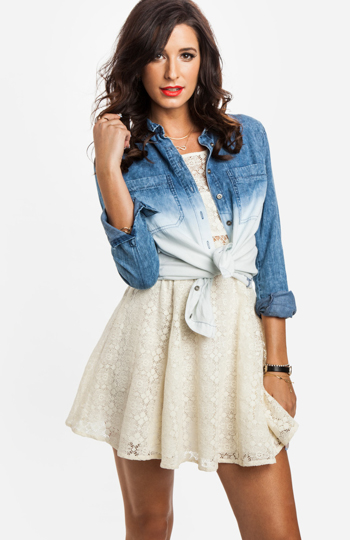 Ombre Chambray Shirt Slide 1
