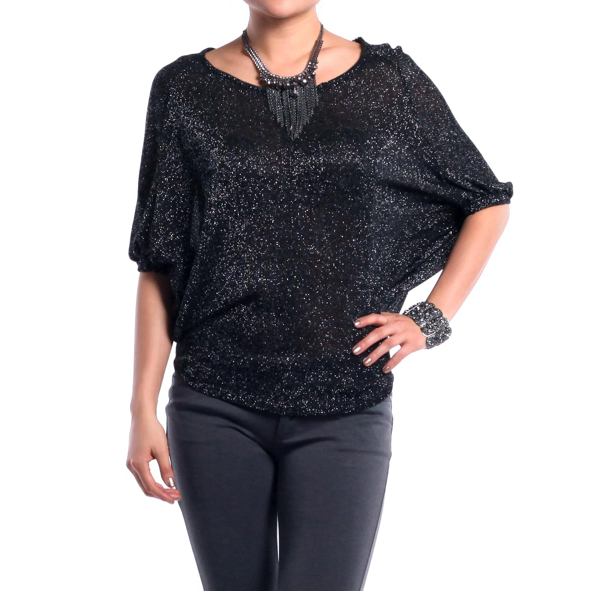 Sparkle batwing top by jella couture