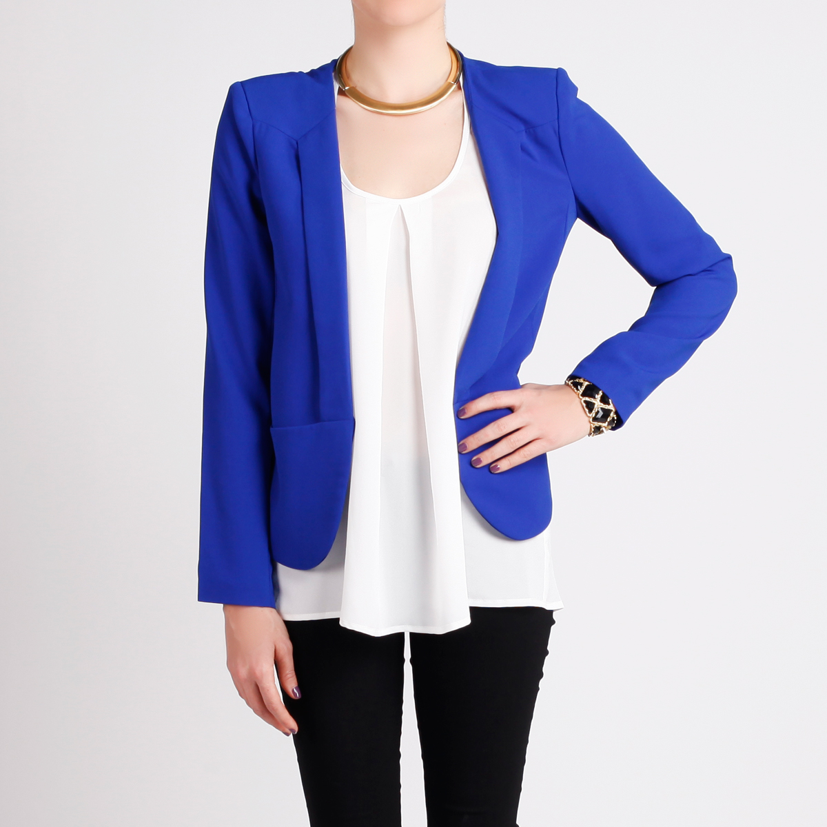 Womens Royal Blue Blazer