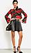 Simple Leatherette Circle Skirt Thumb 4