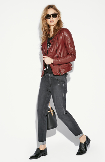 Just Black Candy Cropped Relaxed Jeans Slide 1