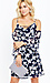 Priya Printed Cold Shoulder Dress Thumb 3