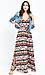BB Dakota Woven Printed Maxi Dress w/ Tie Thumb 3