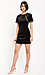 Fitted Lace Sleeve Velvet Dress Thumb 3