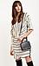 Striped Side Belt Wrap Dress Thumb 3