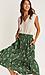 Floral Pleated Midi Skirt Thumb 3