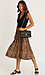 Pleated Snake Print Skirt Thumb 3