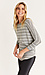 3/4 Striped Dolman Sleeve Knit Top Thumb 3