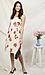 Surplice Floral Print Midi Dress Thumb 3