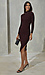 Long Sleeve Turtleneck Midi Dress Thumb 4
