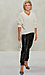 Chenille Cable Knit V-Neck Sweater Thumb 3