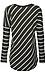 Ria Brushed Striped Hi-Low Top Thumb 2