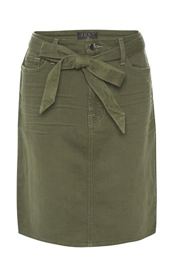 Jen 7 Pencil Skirt with Waist Tie Slide 1