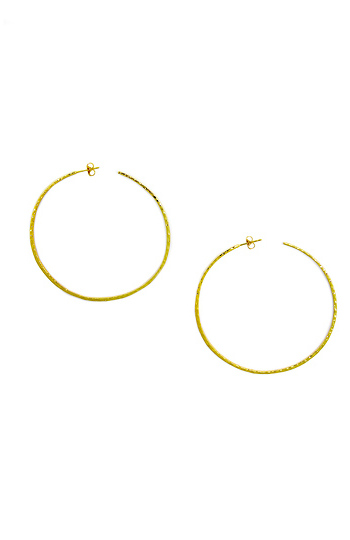 Gorjana Taner XL Hammered Hoop Earrings Slide 1