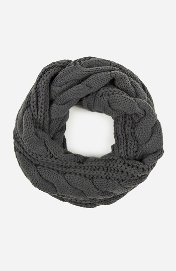 Cable Knit Infinity Scarf Slide 1