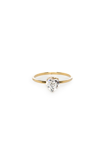 DAILYLOOK Crystal Heart Midi Ring Slide 1