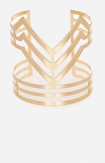 DAILYLOOK Chevron Cutout Cuff Bracelet Slide 1