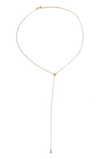 DAILYLOOK Delicate Crystal Drop Necklace Slide 1