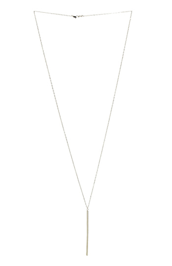 DAILYLOOK Single Bar Necklace Slide 1