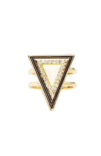 House of Harlow 1960 Teepee Triangle Ring Slide 1