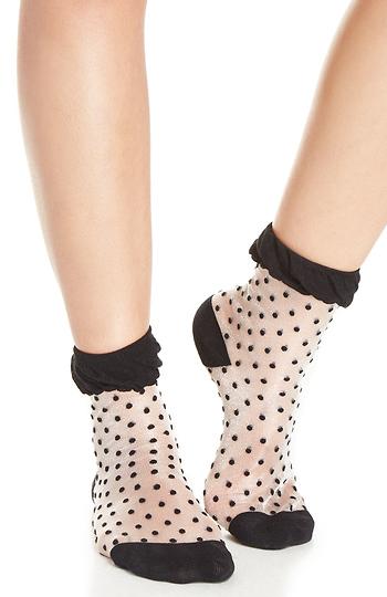 Fuzzy Polka Dot Socks Slide 1
