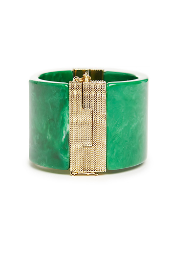 House of Harlow 1960 Classic Resin Cuff Bracelet Slide 1