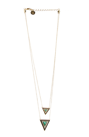 House of Harlow 1960 Teepee Triangle Necklace Slide 1