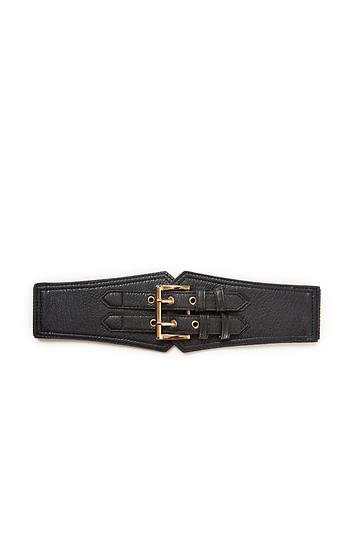 Double Strap Leather Belt Slide 1