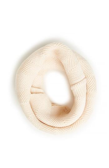 Full Knit Scalloped Infinity Scarf Slide 1
