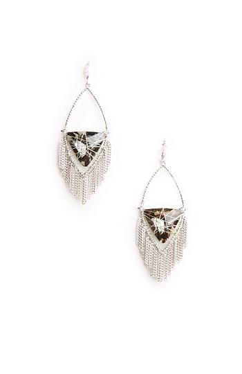 Prudence C Diamond Rhodium Earrings Slide 1