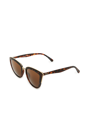 ff7686ba38bd Quay My Girl Winged Sunglasses in Brown Multi