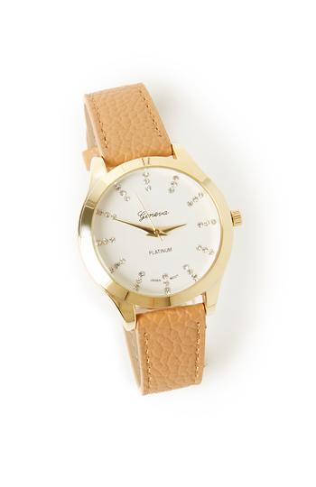 Brownstein Textured Faux Leather Watch Slide 1